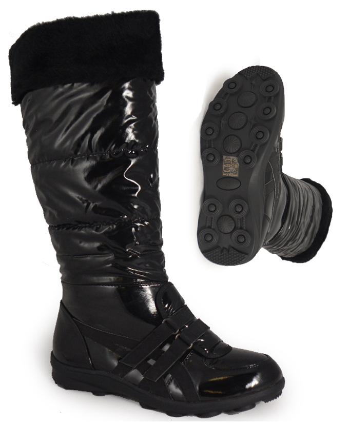 Womens Size 8 Black Snow Boots | Santa Barbara Institute for
